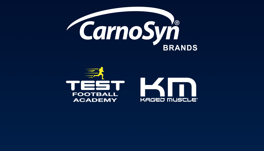 CarnoSyn® Brands Partners with TEST Football Academy and Kaged
